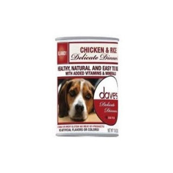 Dave's Pet Food Dave's Delicate Dinners Chicken and Rice Formula Canned Dog Food, 12 count, 13.2 oz