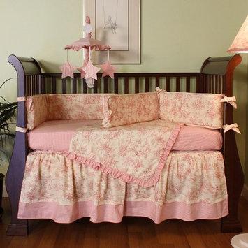 Hoohobbers Etoile Pink 4 Piece Crib Bedding Set