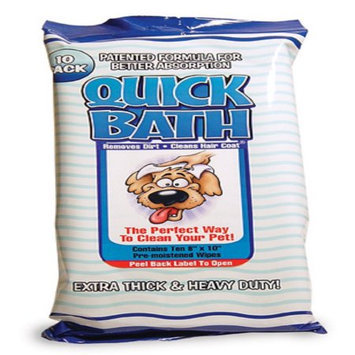 International Vet Science Quick Bath Wipes Dog 10 Count Large