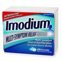 Imodium Multi Symptom Relief Chewable Tablets, Mint Flavor - 18 / Box