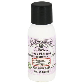 J.R. Watkins Hand And Body Lotion Lavender - 1 Oz Pack of 20