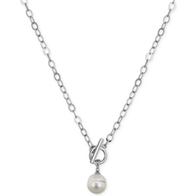 Fresh Water Cultured Pearls By Honora Fresh by Honora Sterling Silver Cultured Freshwater Pearl Pendant and Chain Necklace (11mm)