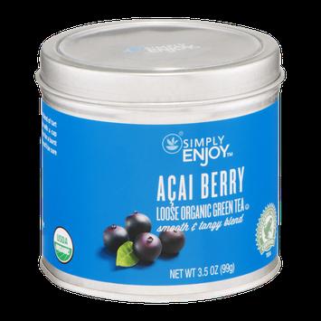 Simply Enjoy Acai Berry Loose Organic Green Tea