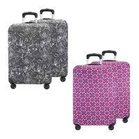 Travelon Set of 4 Suitcase Cover- Medium(2 Black Print plus 2 Berry Floral) Suitcase Cover Medium