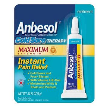 Anbesol Cold Sore Therapy Ointment with Vitamin E & Aloe