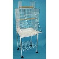 YML Open Play Top Small Parrot Bird Cage with Stand Color: White
