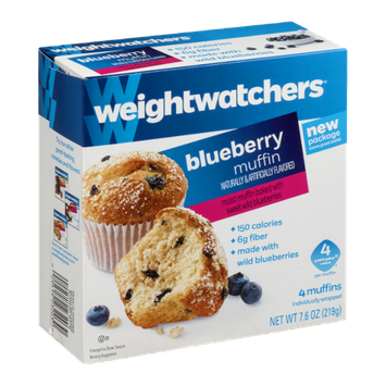 Weight Watchers Blueberry Muffin - 4 CT