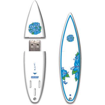 Action Sports Drives Santa Cruz 16GB Hibiscus 2012 SurfDrive USB 2.0 Flash Drive