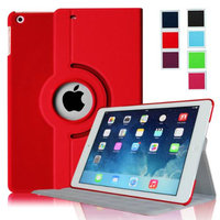 Fintie Ultra Slim 360 Degree Rotating Case Cover with Hard Shell for Apple iPad Air (iPad 5), Red
