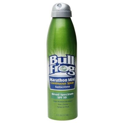 Bull Frog Marathon Mist, Continuous Spray Sunscreen SPF 50, 6 oz