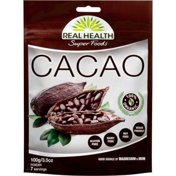 Real Health Super Foods Cacao Powder, 3.5 oz