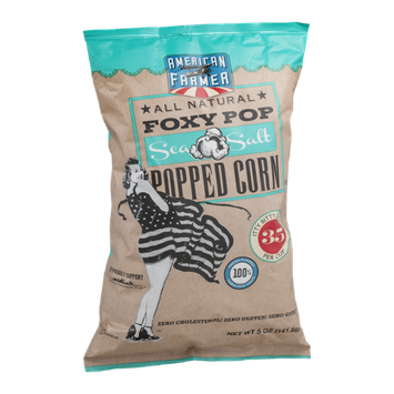 American Farmer Foxy Pop Popped Corn Sea Salt