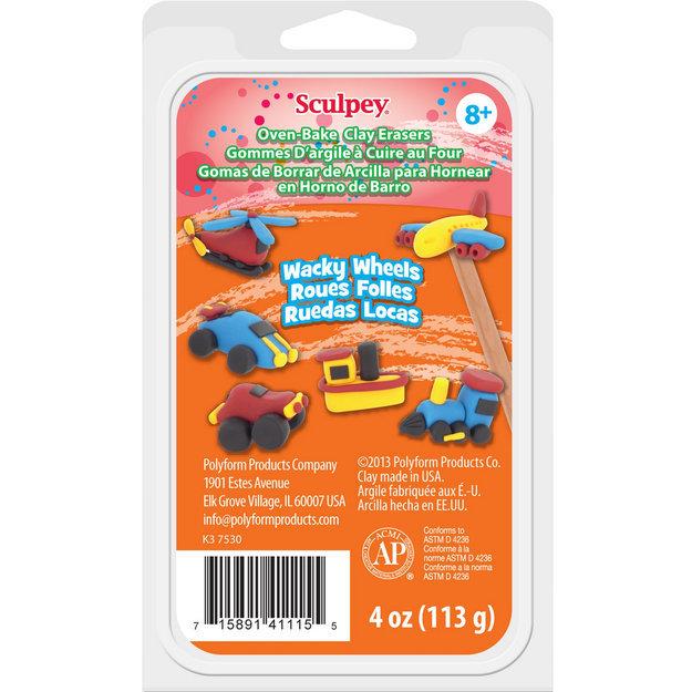 Polyform NOTM053628 - Sculpey Eraser Clay Set 1oz 4/Pkg