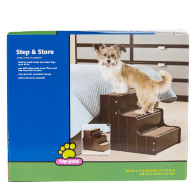 Top Paw Step & Store Carpeted Pet Stairway