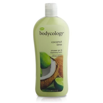 Bodycology Shower Gel and Bubble Bath, Coconut Lime, 16-Fluid Ounce (Pack of 2)