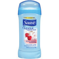 Suave 24 Hour Protection Wild Cherry Blossom Invisible Solid Anti-Perspirant Deodorant by  for Unisex - 2. 6 oz Deodorant