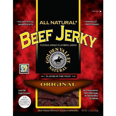 Golden Valley Natural Beef Jerky, Original, 3.25-Ounce Pouches (Pack of 8)