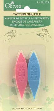 Clover Plastic Tatting Shuttles, 2-Pack Colors Vary