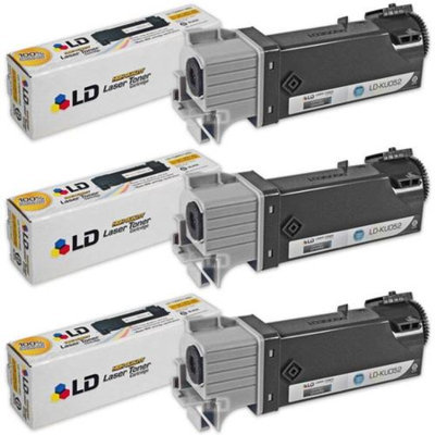 LD Compatible Dell KU052 (310-9058) Set of 3 High Yield Black Toner Cartridges for 1320/1320C Printers
