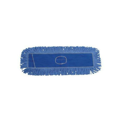 UNISAN 5X24 Blue Looped End Dust Mop Refill Slot Pocket
