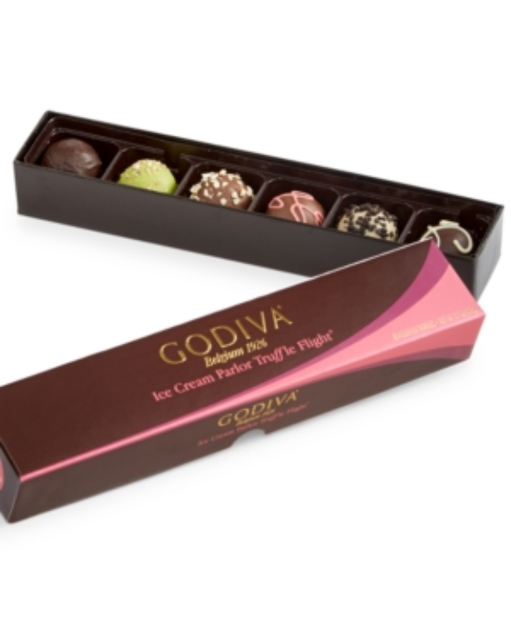 Godiva 6-Pc Ice Cream Parlor Truffle Flight