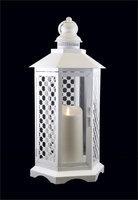 Gki/bethlehem Lighting 16 White Floral Lattice Lantern with Luminara Flameless LED Lighted Candle