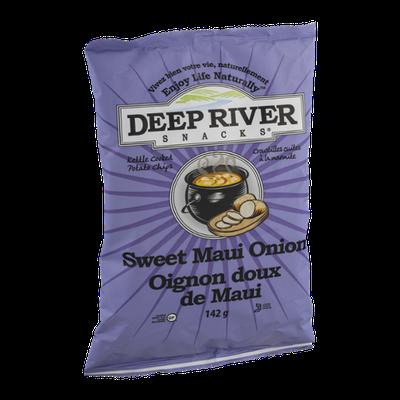 Deep River Snacks Kettle Cooked Potato Chips Sweet Maui Onion