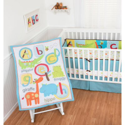 Sumersault ABC Animals 4-Piece Crib Bedding Set