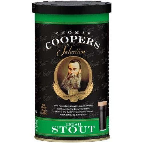 Makebeer.net Complete Coopers Brewery Irish Stout Beer Kit Package