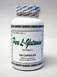 Pure L-Glutamine 500 mg 100 caps by Montiff