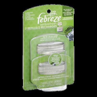 Febreze Set & Refresh New Zealand Air Freshener Refills - 2 CT