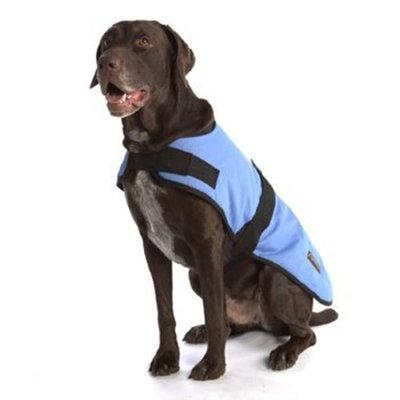ABO Gear Breathable/Waterproof Dog Coat, Light Blue, X-Large (24-26