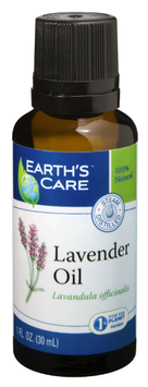 100% Natural & Pure Lavender Oil, 1 oz, Earth's Care