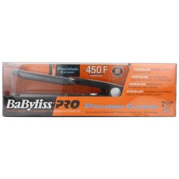 BaBylissPRO BaByliss Pro BABP2559 Porcelain Ceramic Flat Iron, Silver/Black, 2.5 Inch