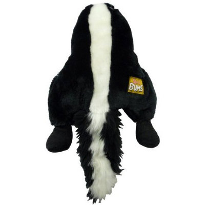 Romp! Silly Bums Skunk, Plush, Crinkly, Squeaky, Funny and Furry Dog Toy - Small