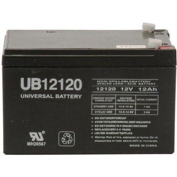 Universal Studios UPG 85977/D5744 SEALED LEAD ACID BATTERIES (12V 12AH .187 TAB TERMINALS UB12120)