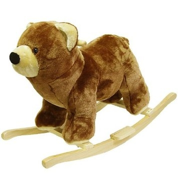 Happy Trails Bear Plush Rocking Animal