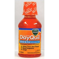 Vicks DayQuil Non-Drowsy Cold & Flu Multi-Symptom Relief Liquid 10 Oz (Pack of 3)