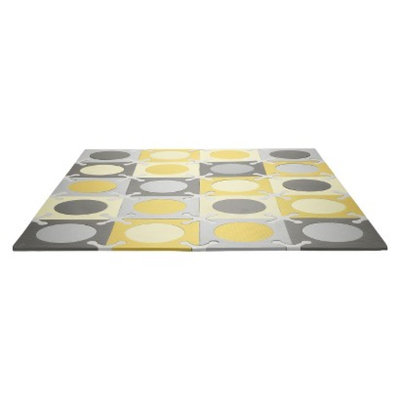 Playspot Foam Floor Tiles - Gold/Grey by Skip Hop