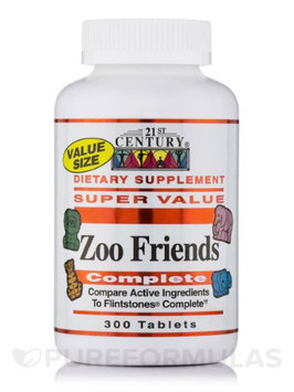 21st Century Healthcare Zoo Friends Complete, 300 Chewable Tablets, 21st Century Health Care