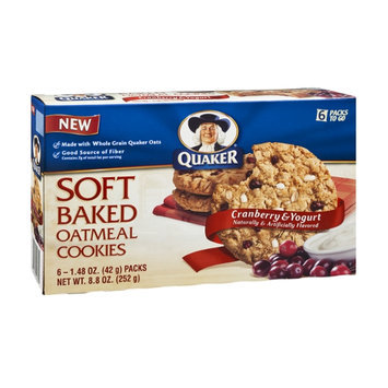 Quaker Soft Baked Cranberry & Yogurt Oatmeal Cookies - 6 CT