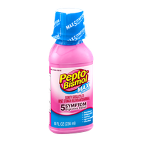 Pepto-Bismol Upset Stomach Reliever 5 Symptom Max Strength