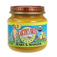 Earth's Best Organic Baby Food Stage 2 Pears and Mangos -- 4 oz
