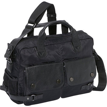 Dr. Koffer Fine Leather Accessories Aelius Double Pocket Laptop Bag