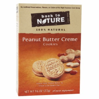 Back to Nature Peanut Butter Creme Cookie, 9.5 oz