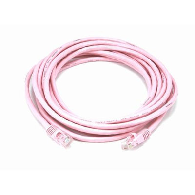 Monoprice 14FT 24AWG Cat5e 350MHz UTP Bare Copper Ethernet Network Cable - Pink