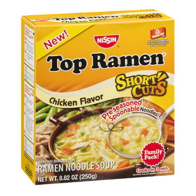 Nissin Top Ramen Noodle Soup Short Cuts Chicken