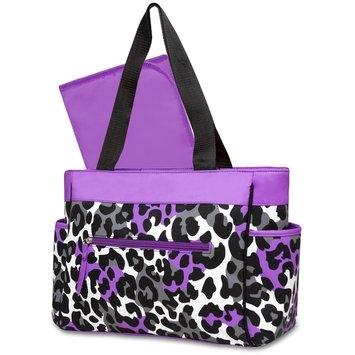 Gerber Diaper Bag & Changing Pad Leopard Print - Rose Art