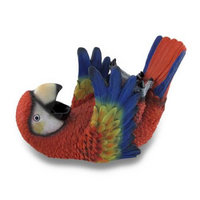 Zeckos Tropical Red Parrot Single Bottle Holder Wine Display