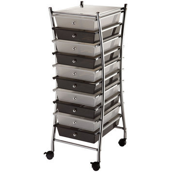 Blue Hills Studio X-Frame 10 Drawer Storage Cart